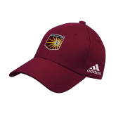 Adidas Maroon Structured Adjustable Hat-Shield