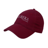 Maroon Twill Unstructured Low Profile Hat-Wordmark