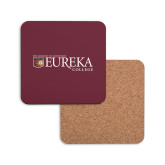 Hardboard Coaster w/Cork Backing-Eureka College w/ Shield