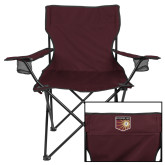 Deluxe Maroon Captains Chair-Shield