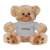 Plush Big Paw 8 1/2 inch Brown Bear w/Grey Shirt-Eureka College w/ Shield