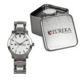 Mens Stainless Steel Fashion Watch-Eureka College w/ Shield