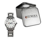 Ladies Stainless Steel Fashion Watch-Eureka College w/ Shield