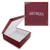Red Mahogany Accessory Box With 6 x 6 Tile-Eureka College w/ Shield