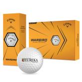 Callaway Warbird Golf Balls 12/pkg-Eureka College w/ Shield