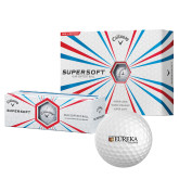 Callaway Supersoft Golf Balls 12/pkg-Eureka College w/ Shield