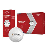 Callaway Chrome Soft Golf Balls 12/pkg-Eureka College w/ Shield