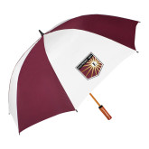 64 Inch Maroon/White Vented Umbrella-Shield