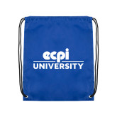 Royal Drawstring Backpack-ECPI University Stacked