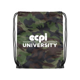 Camo Drawstring Backpack-ECPI University Stacked