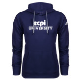Adidas Climawarm Navy Team Issue Hoodie-ECPI University Stacked