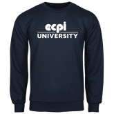 Navy Fleece Crew-ECPI University Stacked