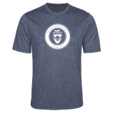 Performance Navy Heather Contender Tee-ECPI University Seal