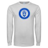 White Long Sleeve T Shirt-ECPI University Seal