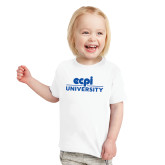 Toddler White T Shirt-ECPI University Stacked