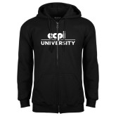 Black Fleece Full Zip Hoodie-ECPI University Stacked