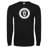 Black Long Sleeve T Shirt-ECPI University Seal