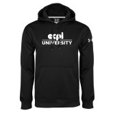 Under Armour Black Performance Sweats Team Hoodie-ECPI University Stacked