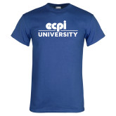 Royal T Shirt-ECPI University Stacked
