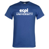 Royal T Shirt-ECPI University Stacked Distressed