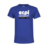 Youth Royal T Shirt-ECPI University - Founded 1966