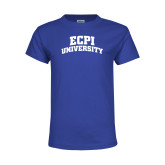 Youth Royal T Shirt-ECPI University Arched