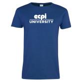 Ladies Royal T Shirt-ECPI University Stacked