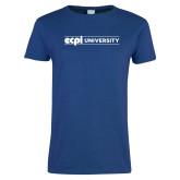 Ladies Royal T Shirt-ECPI University Flat