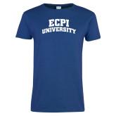 Ladies Royal T Shirt-ECPI University Arched