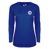 Ladies Syntrel Performance Royal Longsleeve Shirt-ECPI University Seal