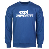 Royal Fleece Crew-ECPI University Stacked
