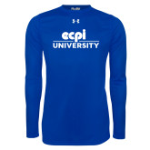 Under Armour Royal Long Sleeve Tech Tee-ECPI University Stacked