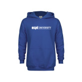 Youth Royal Fleece Hoodie-ECPI University Flat