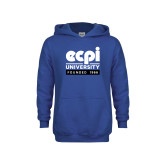 Youth Royal Fleece Hoodie-ECPI University - Founded 1966