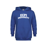 Youth Royal Fleece Hoodie-ECPI University Arched