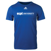 Adidas Royal Logo T Shirt-ECPI University Flat