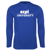 Performance Royal Longsleeve Shirt-ECPI University Stacked
