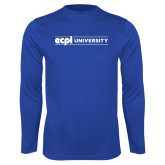 Performance Royal Longsleeve Shirt-ECPI University Flat