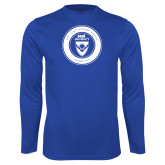 Syntrel Performance Royal Longsleeve Shirt-ECPI University Seal