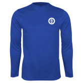 Performance Royal Longsleeve Shirt-ECPI University Seal
