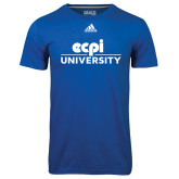 Adidas Climalite Royal Ultimate Performance Tee-ECPI University Stacked