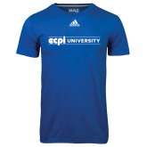 Adidas Climalite Royal Ultimate Performance Tee-ECPI University Flat