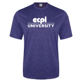 Performance Royal Heather Contender Tee-ECPI University Stacked