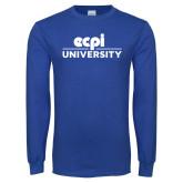 Royal Long Sleeve T Shirt-ECPI University Stacked