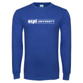 Royal Long Sleeve T Shirt-ECPI University Flat