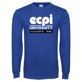 Royal Long Sleeve T Shirt-ECPI University - Founded 1966