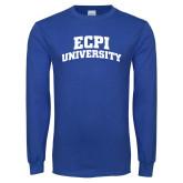 Royal Long Sleeve T Shirt-ECPI University Arched