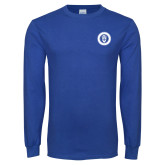 Royal Long Sleeve T Shirt-ECPI University Seal