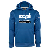 Under Armour Royal Performance Sweats Team Hoodie-ECPI University - Founded 1966