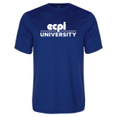 Performance Royal Tee-ECPI University Stacked